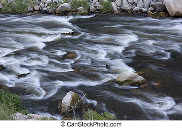 whitewater in mountain river