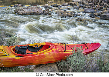 whitewater kayak and river rapid - Rodeo Rapid on the upper ...
