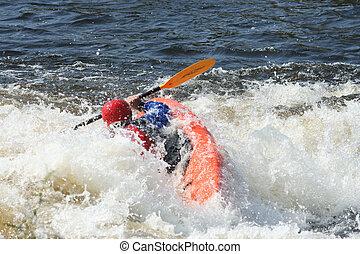 whitewater , kayaker