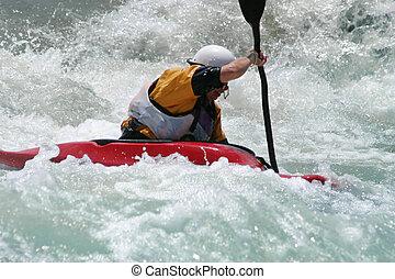 whitewater, kayaker