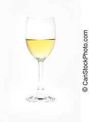 Whitewine glass isolated on white