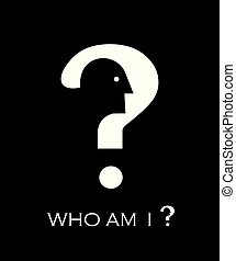 who am I. head and question mark