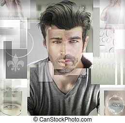 Who is Man - Conceptual stylized abstract composited photo...