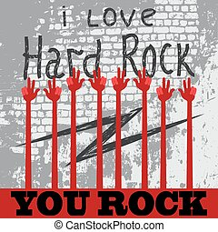who loves rock put your hands up