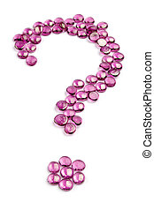 who? why? - question mark made with glass bead