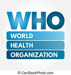 WHO - World Health Organization acronym, concept background