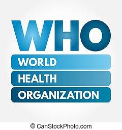 WHO - World Health Organization acronym, concept background