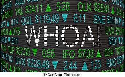 whoa, palabras, mercado, grande, corazón, ilustración, ...
