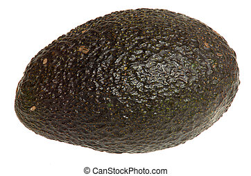 A whole uncut Avocado isolated on White