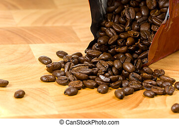 Whole coffee beans