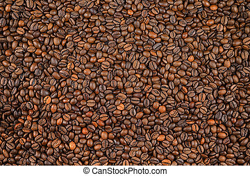 Whole coffee grains background. Conceptual image for lovers ...