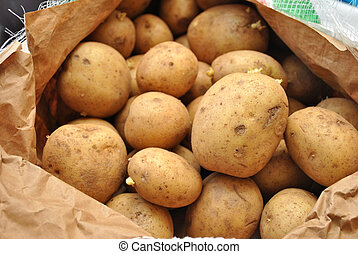Whole Fresh Poatoes in a Bag