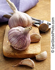 whole garlic bulbs