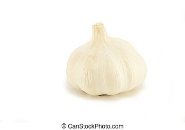 Whole Garlic on white