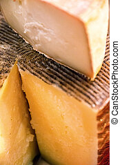 manchego - Whole genuine cured manchego cheese wheel from La...