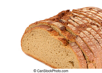 Whole grain bread , healthy eating concept