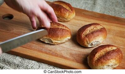 Whole Grain Buns - Freshly baked homemade whole-grain buns...