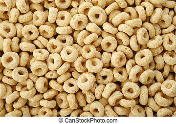 Whole grain cheerios cereal background