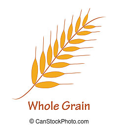 Whole grain - Wheat ear illustration. Also available as a...