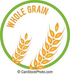 Whole grain logo template vector icon design