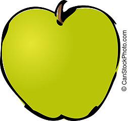 Whole green apple