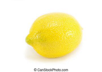 Whole lemon isolated on white