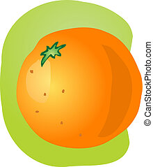 Whole orange illustration
