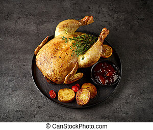 whole roasted chicken