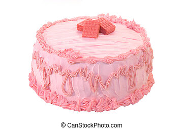 Whole Strawberry Cake - A whole deliscious pink strawberry...