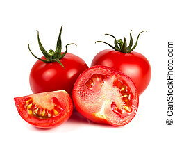 Whole tomatoes and halves