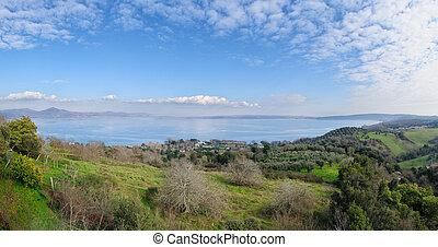 Whole view of Lake of Bracciano
