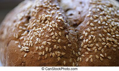 Whole Wheat Bread Baked At Home With Bio Ingredients