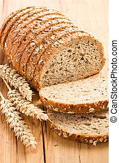 whole wheat bread on kitchen table