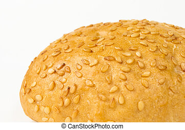 whole wheat bun with sesame seeds