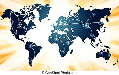 whole world is connected with each other on abstract background