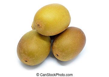 Whole yellow or gold kiwi fruit