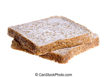 Wholemeal Bread Slices - Isolated image of wholemeal bread ...