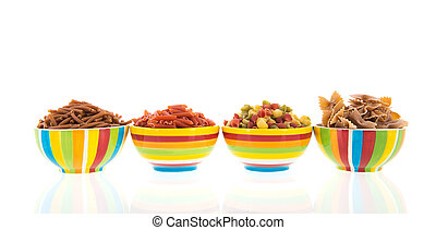 Wholemeal pasta assortment - assortment wholemeal pasta in ...