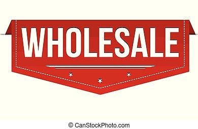 Wholesale banner design on white background, vector...