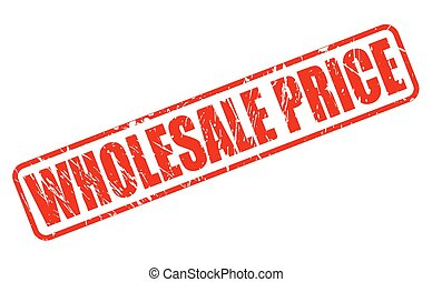 WHOLESALE PRICE RED STAMP TEXT