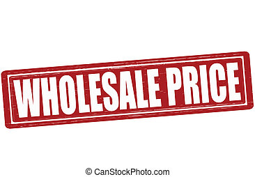 Wholesale price - Stamp with text wholesale price inside,...