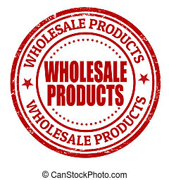 Wholesale products grunge rubber stamp on white, vector illustration
