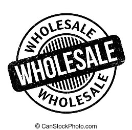 Wholesale rubber stamp. Grunge design with dust scratches. ...