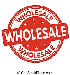Wholesale sign or stamp on white background, vector ...