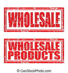 Wholesale-stamp - Set of grunge rubber stamp with text...