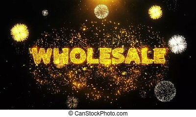Wholesale Text on Firework Display Explosion Particles.