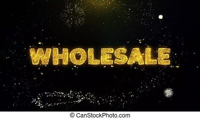 Wholesale Text on Gold Particles Fireworks Display.