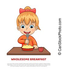 Wholesome Breakfast Poster Vector Illustration - Wholesome ...