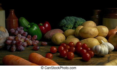 Wholesome Organic Foods Spread - Moving slowly over a table...