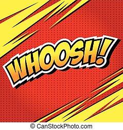 WHOOSH !- Comic Speech Bubble, Cart - WHOOSH! Comic Speech...